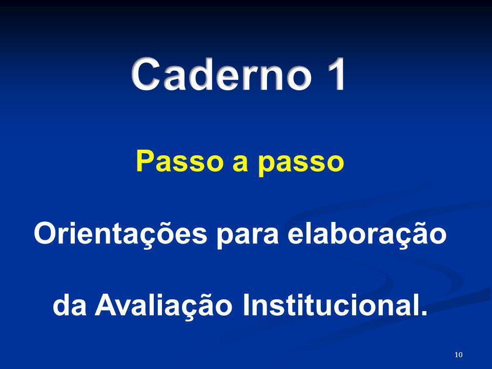 Orientações para elaboração da Avaliação Institucional.