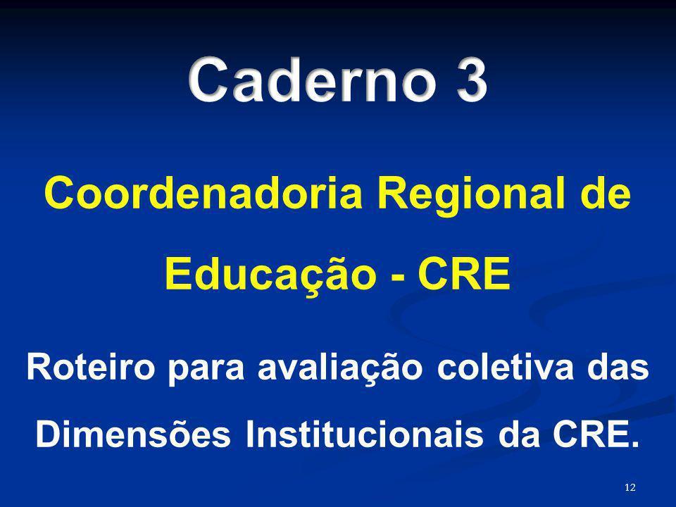 Caderno 3 Coordenadoria Regional de Educação - CRE