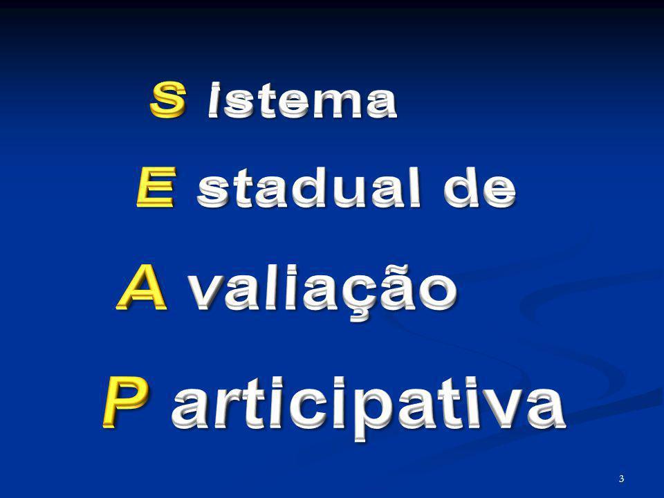 S istema E stadual de A valiação P articipativa 3 3