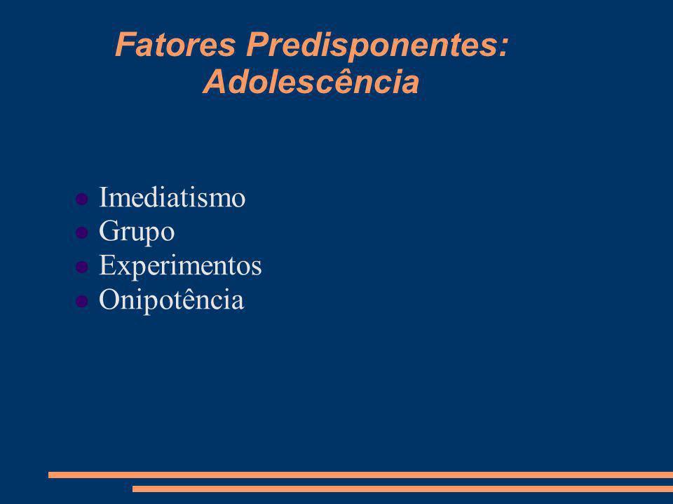 Fatores Predisponentes: Adolescência