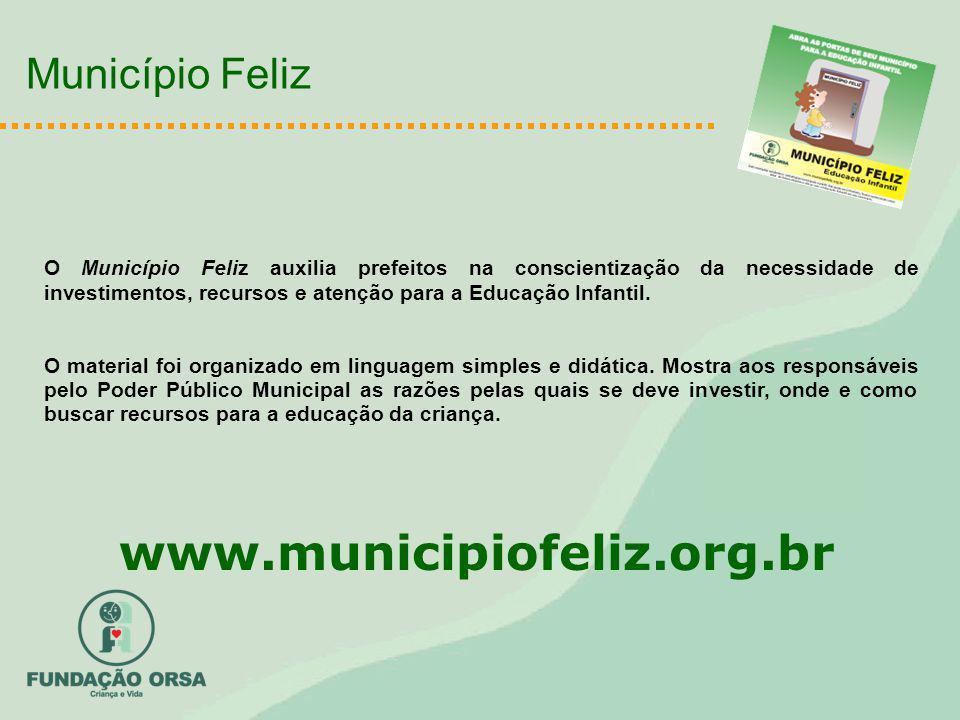 www.municipiofeliz.org.br Município Feliz