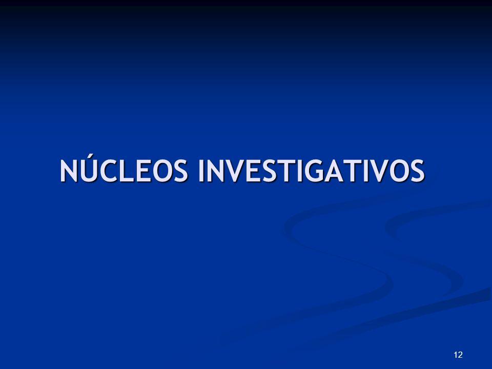 NÚCLEOS INVESTIGATIVOS