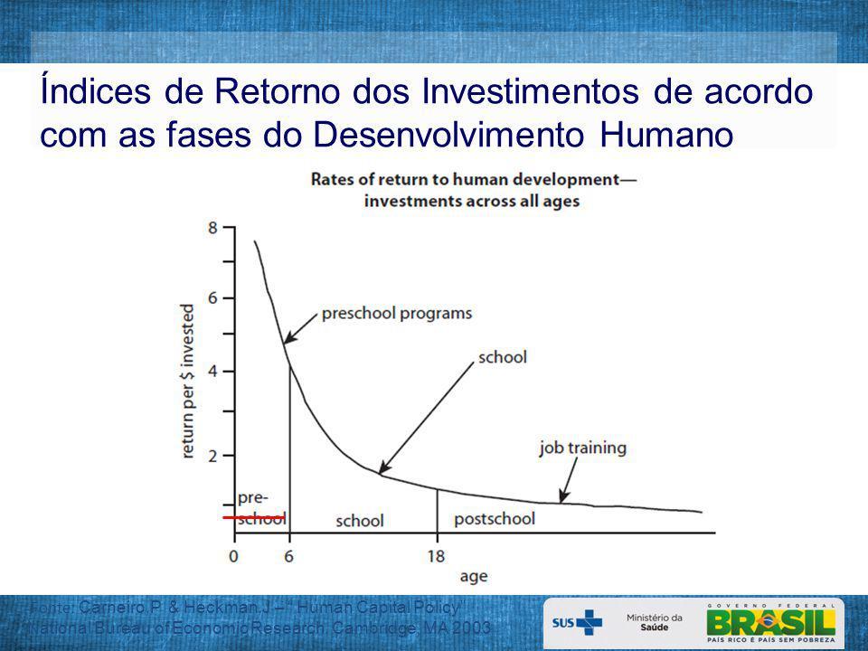 Índices de Retorno dos Investimentos de acordo