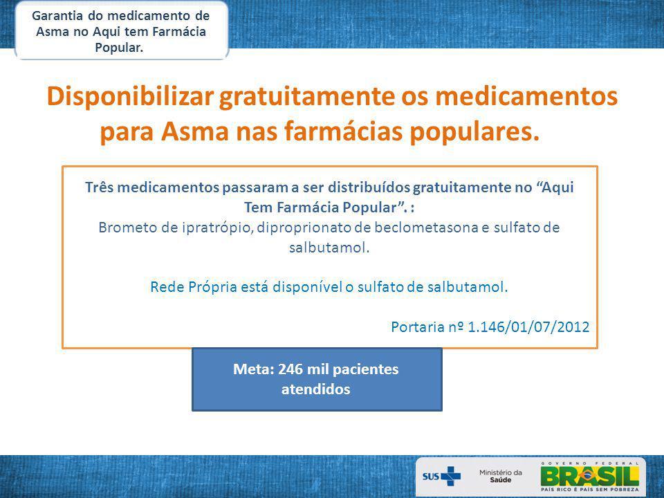 Garantia do medicamento de Asma no Aqui tem Farmácia Popular.