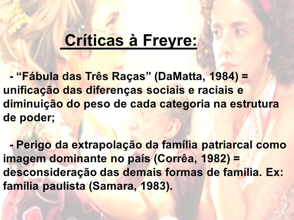 Críticas à Freyre: