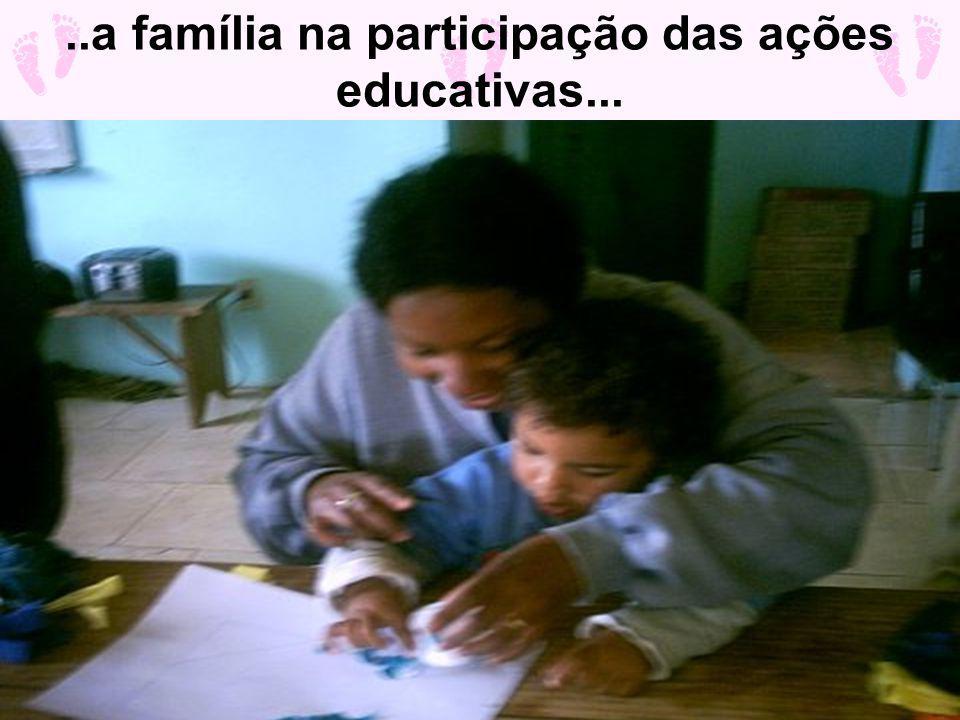 ..a família na participação das ações educativas...