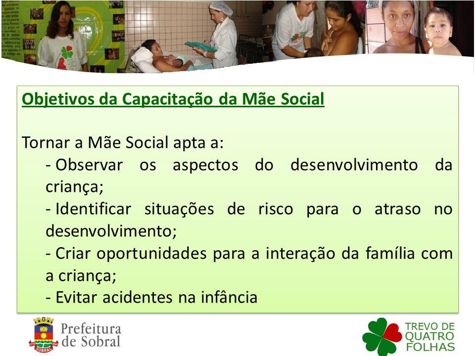 Objetivos da Capacitação da Mãe Social
