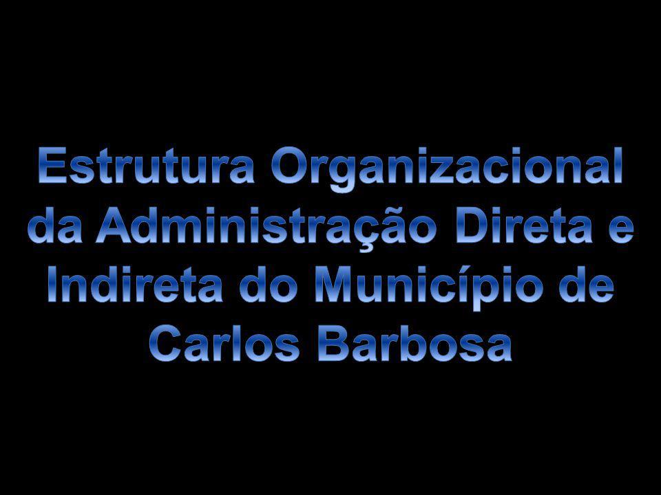 Estrutura Organizacional da Administração Direta e Indireta do Município de Carlos Barbosa