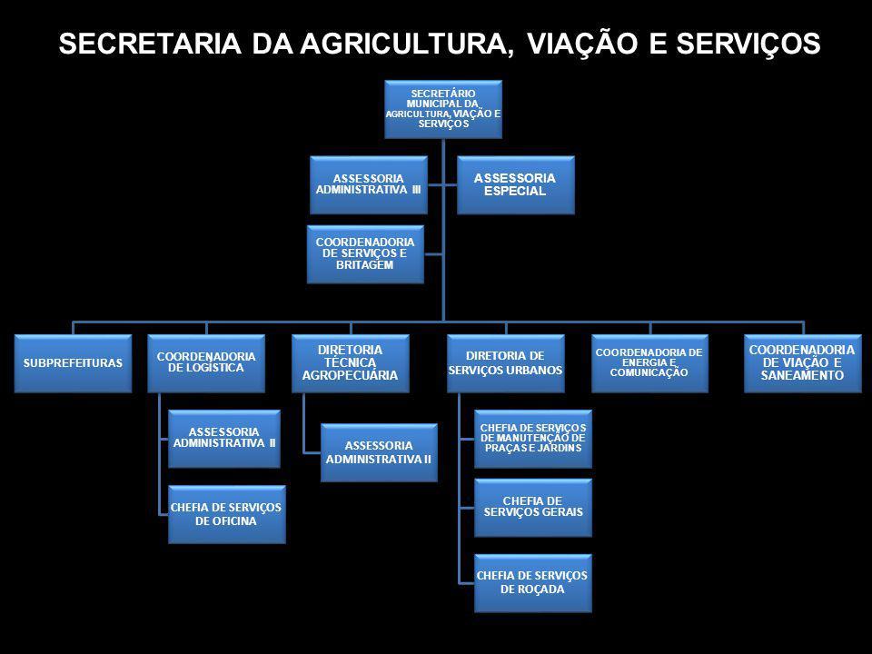 SECRETARIA DA AGRICULTURA, VIAÇÃO E SERVIÇOS