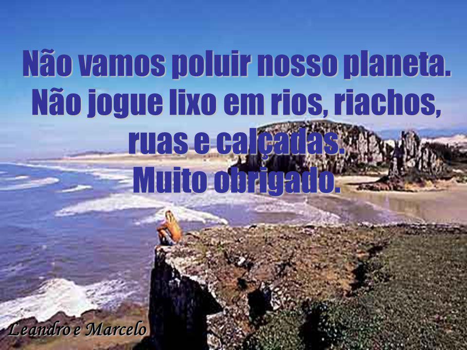 Não vamos poluir nosso planeta