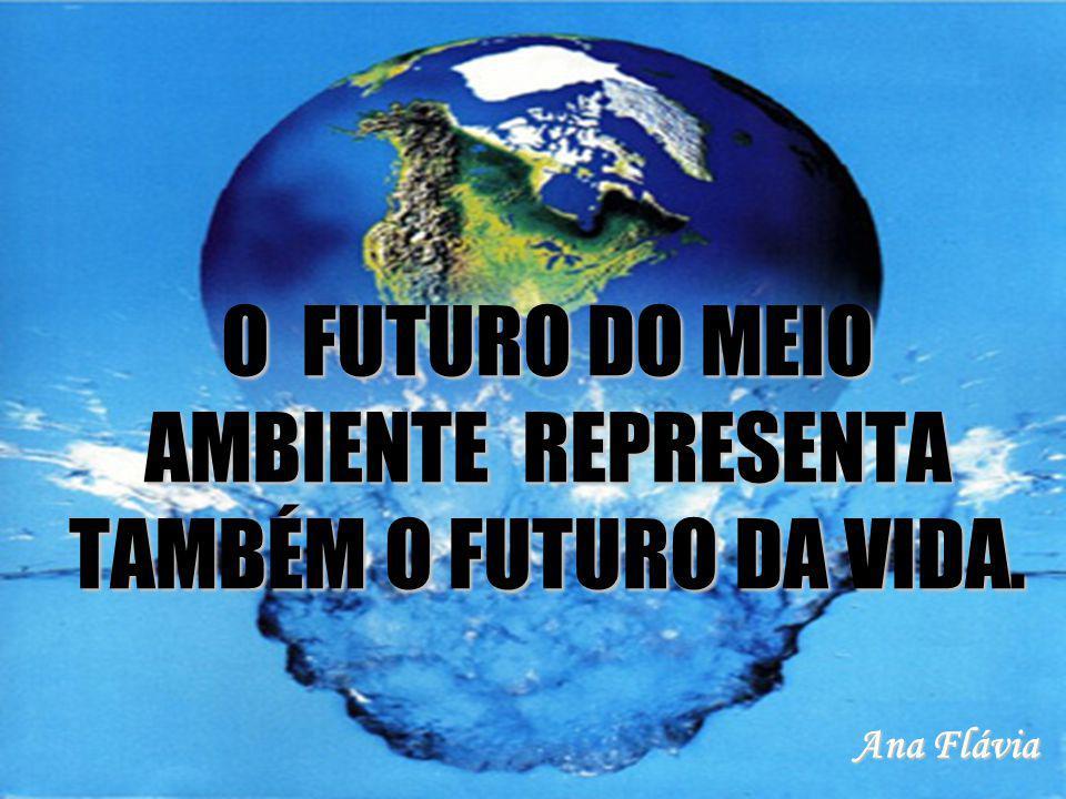 O FUTURO DO MEIO AMBIENTE REPRESENTA TAMBÉM O FUTURO DA VIDA.