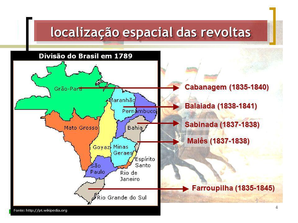 localização espacial das revoltas