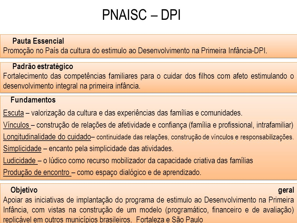 PNAISC – DPI Pauta Essencial