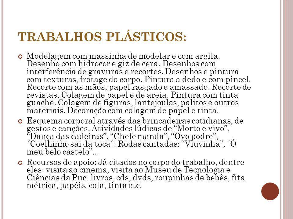 TRABALHOS PLÁSTICOS: