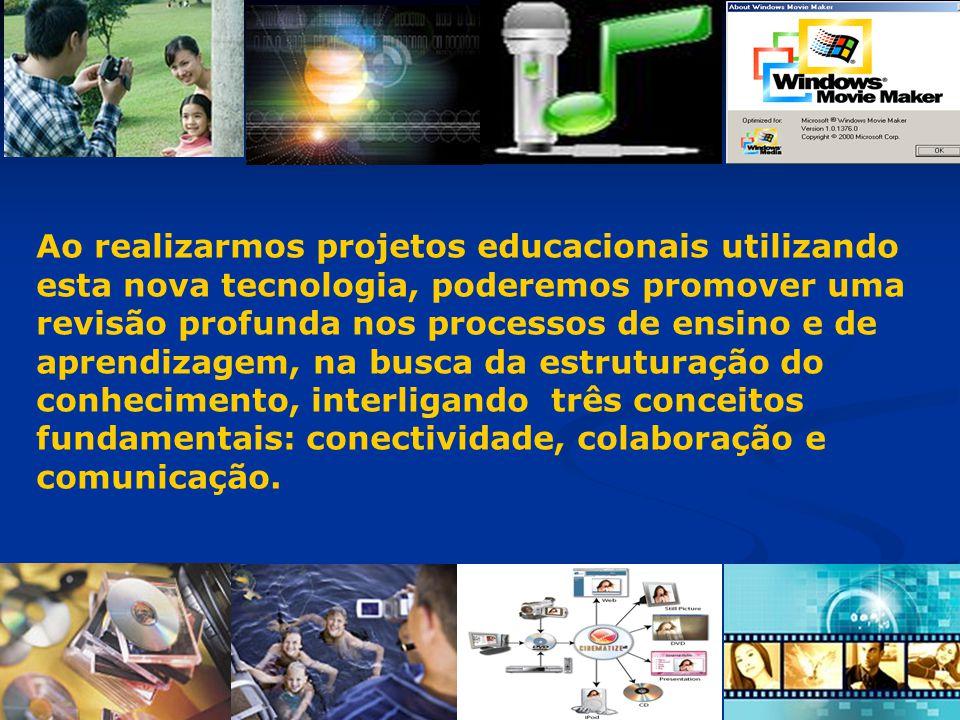 Ao realizarmos projetos educacionais utilizando esta nova tecnologia, poderemos promover uma revisão profunda nos processos de ensino e de aprendizagem, na busca da estruturação do conhecimento, interligando três conceitos fundamentais: conectividade, colaboração e comunicação.