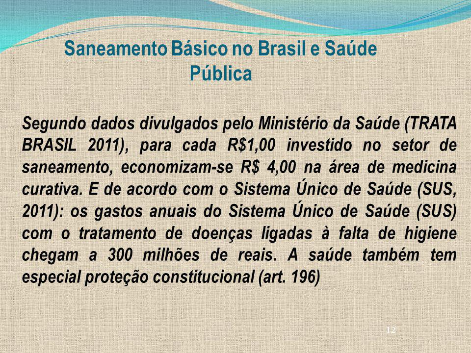 Saneamento Básico no Brasil e Saúde Pública