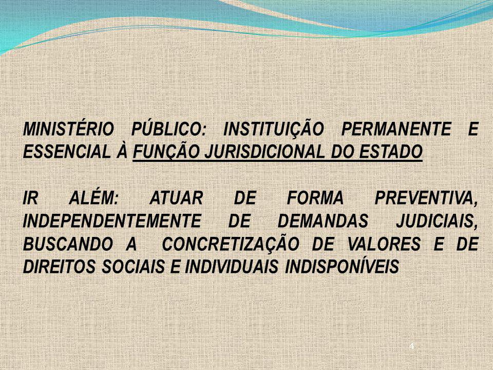 MINISTÉRIO PÚBLICO: INSTITUIÇÃO PERMANENTE E ESSENCIAL À FUNÇÃO JURISDICIONAL DO ESTADO