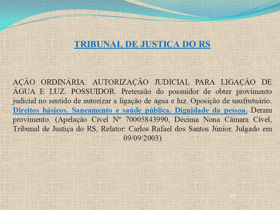 TRIBUNAL DE JUSTIÇA DO RS