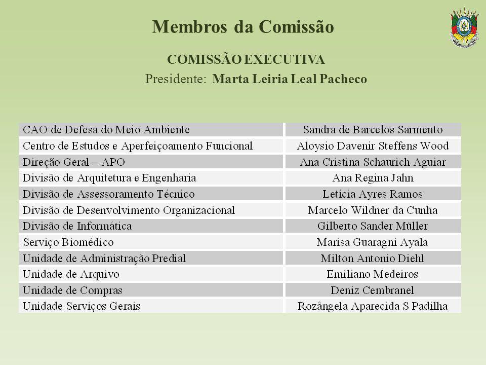 COMISSÃO EXECUTIVA Presidente: Marta Leiria Leal Pacheco
