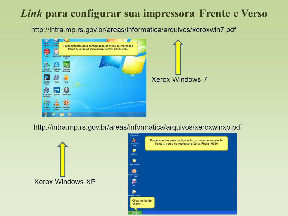 Link para configurar sua impressora Frente e Verso