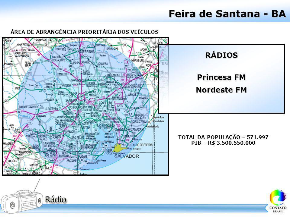 Feira de Santana - BA RÁDIOS Princesa FM Nordeste FM