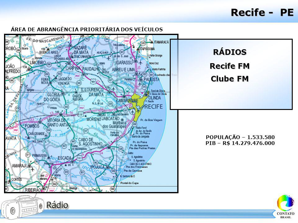 Recife - PE RÁDIOS Recife FM Clube FM