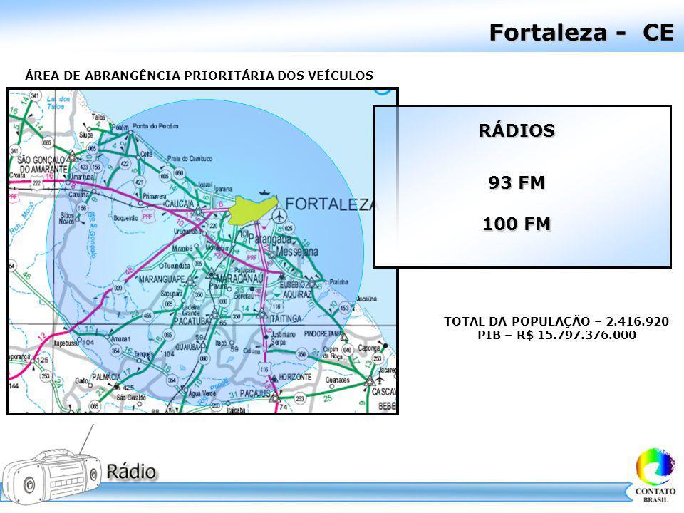 Fortaleza - CE RÁDIOS 93 FM 100 FM
