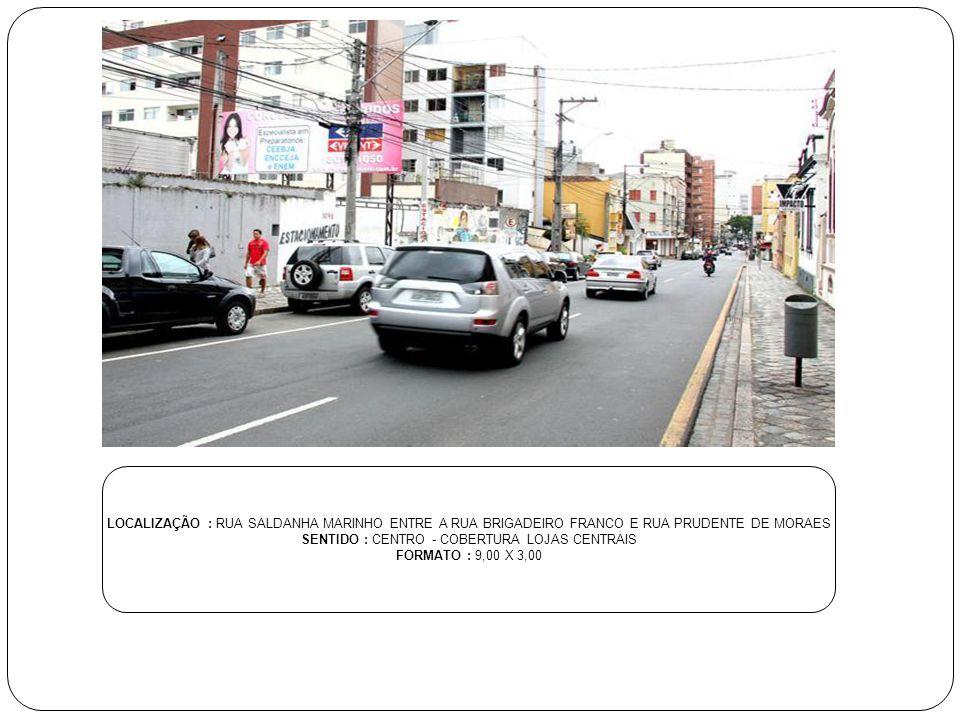 SENTIDO : CENTRO - COBERTURA LOJAS CENTRAIS