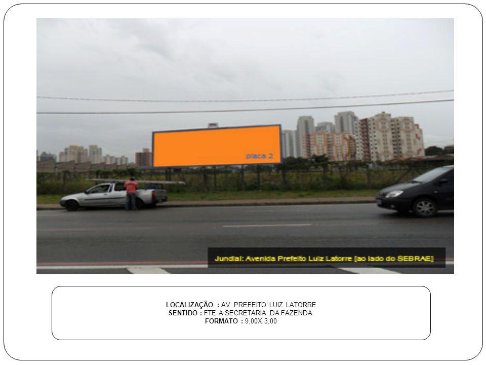 LOCALIZAÇÃO : AV. PREFEITO LUIZ LATORRE