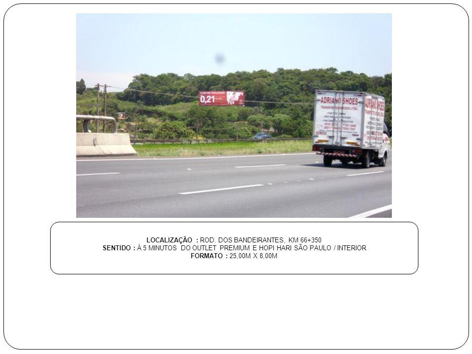 LOCALIZAÇÃO : ROD. DOS BANDEIRANTES, KM 66+350