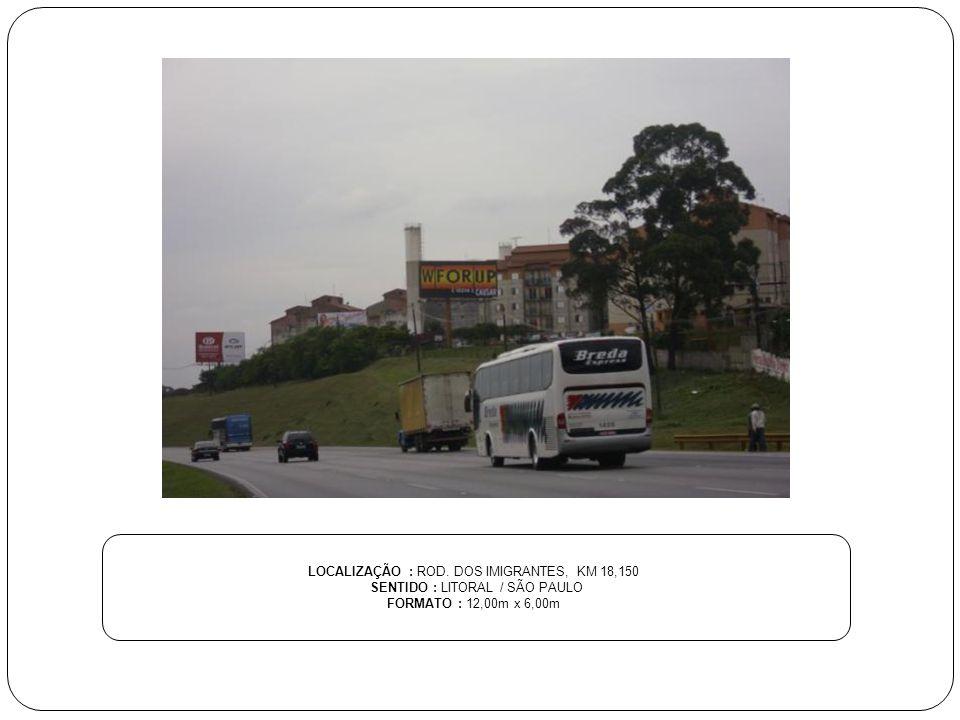 LOCALIZAÇÃO : ROD. DOS IMIGRANTES, KM 18,150