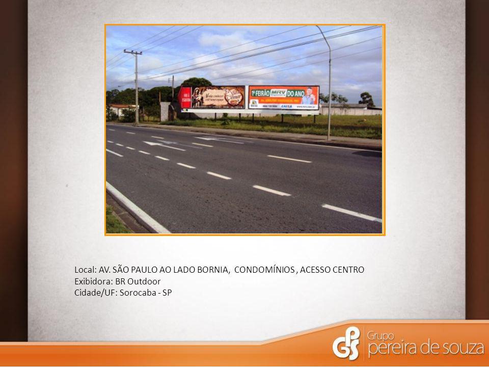 Local: AV. SÃO PAULO AO LADO BORNIA, CONDOMÍNIOS , ACESSO CENTRO