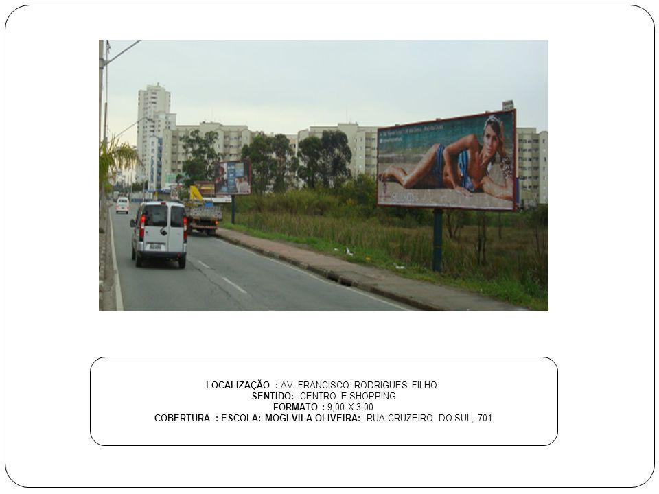 LOCALIZAÇÃO : AV. FRANCISCO RODRIGUES FILHO SENTIDO: CENTRO E SHOPPING