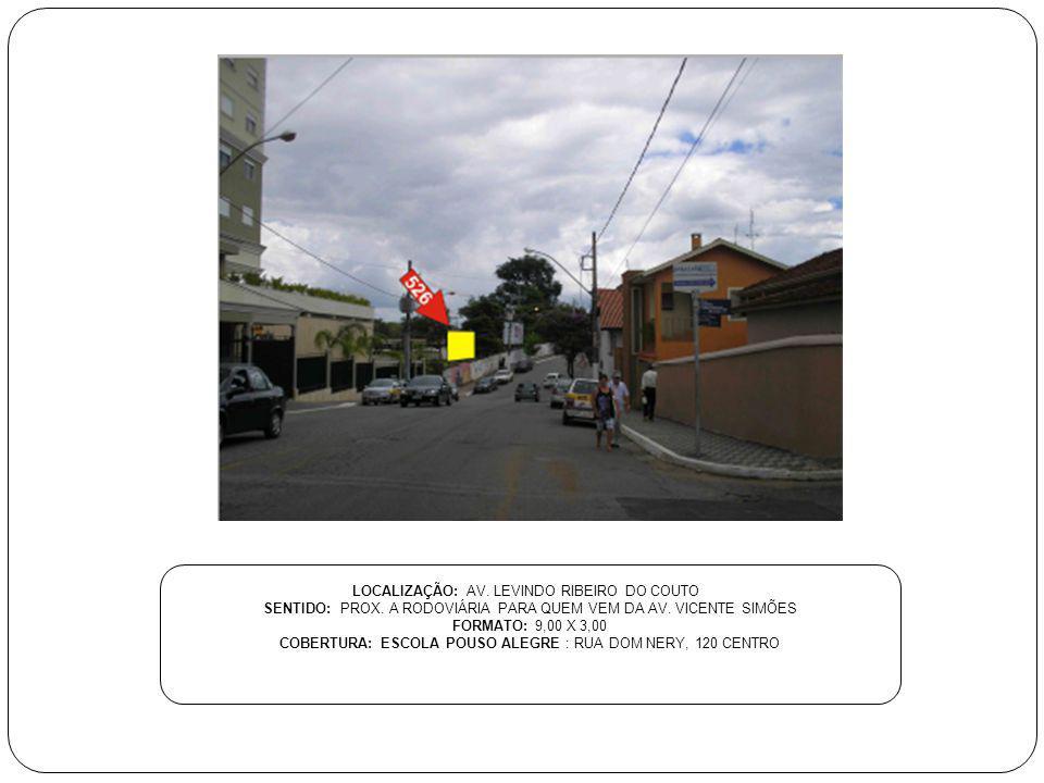 LOCALIZAÇÃO: AV. LEVINDO RIBEIRO DO COUTO