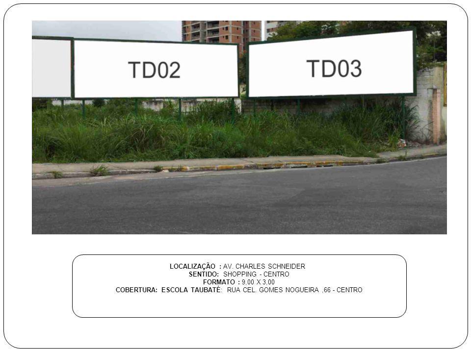 LOCALIZAÇÃO : AV. CHARLES SCHNEIDER SENTIDO: SHOPPING - CENTRO