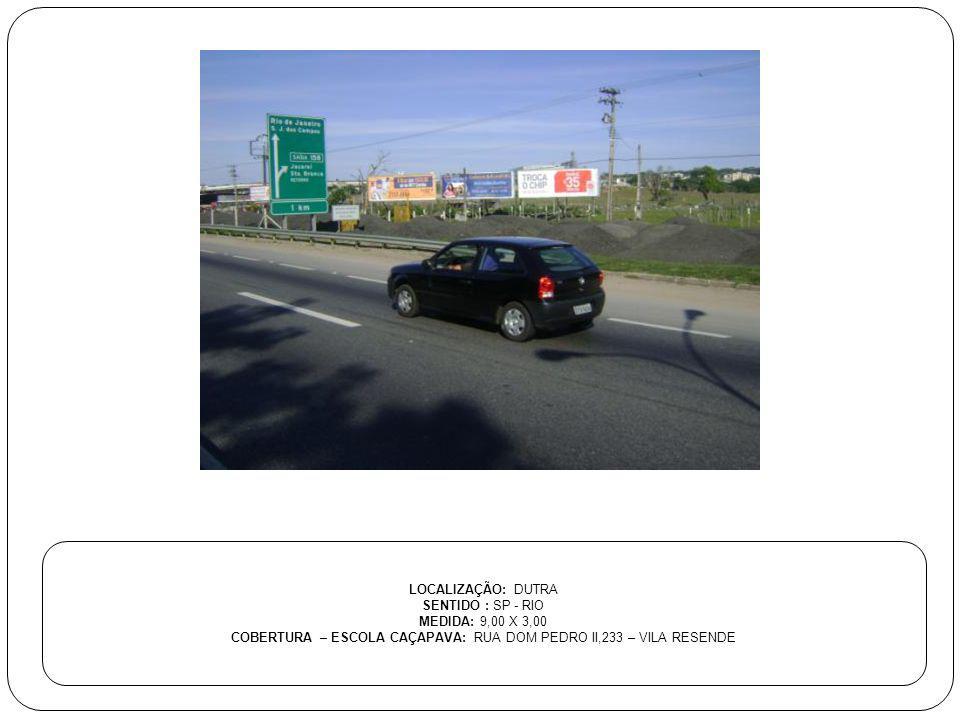 COBERTURA – ESCOLA CAÇAPAVA: RUA DOM PEDRO II,233 – VILA RESENDE