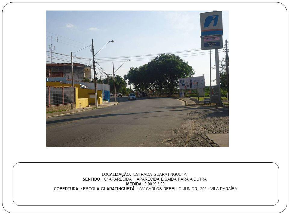 LOCALIZAÇÃO: ESTRADA GUARATINGUETÁ