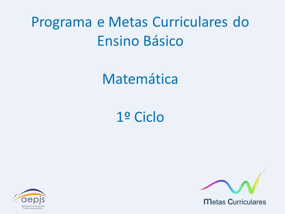 Programa e Metas Curriculares do Ensino Básico