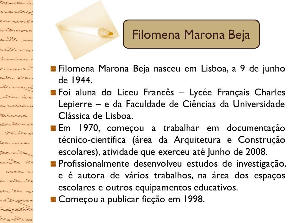 Filomena Marona Beja Filomena Marona Beja nasceu em Lisboa, a 9 de junho de 1944.