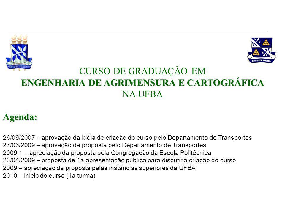 CURSO DE GRADUAÇÃO EM ENGENHARIA DE AGRIMENSURA E CARTOGRÁFICA