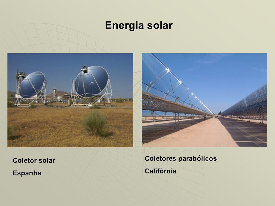 Energia solar Coletores parabólicos Califórnia Coletor solar Espanha