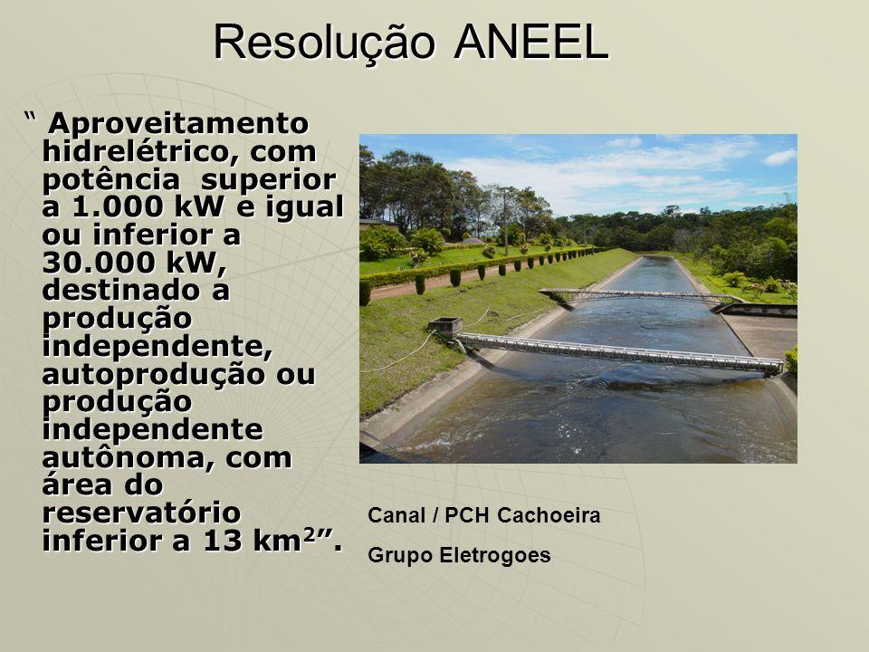 Resolução ANEEL Canal / PCH Cachoeira Grupo Eletrogoes
