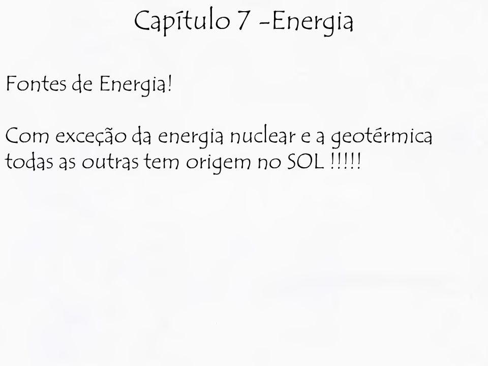 Capítulo 7 -Energia Fontes de Energia!