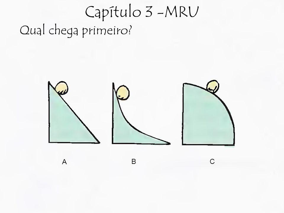 Capítulo 3 -MRU Qual chega primeiro A B C