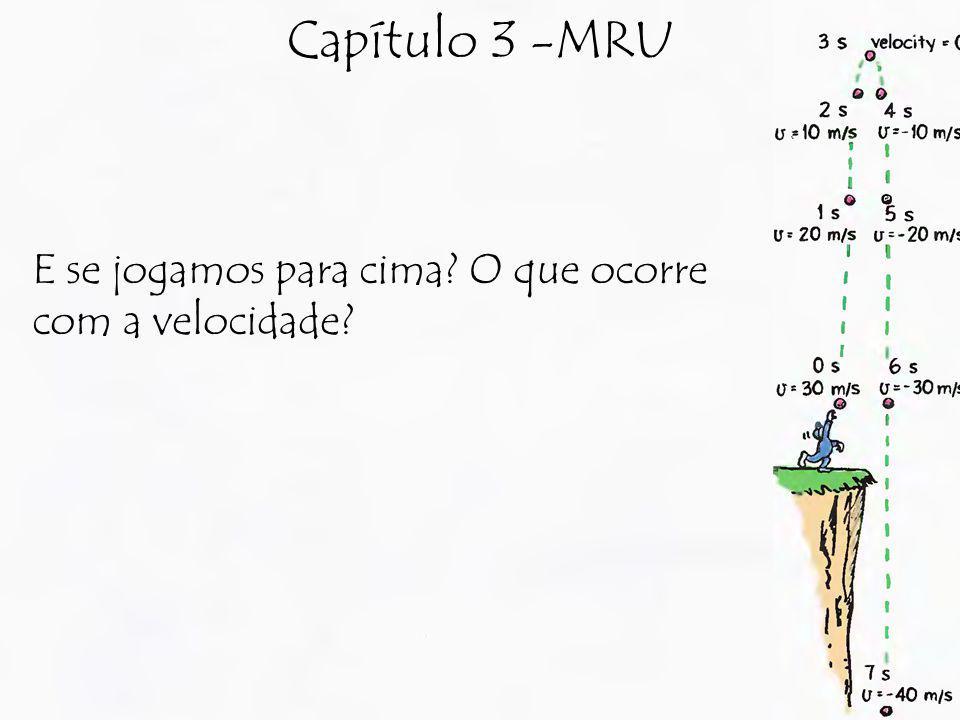 Capítulo 3 -MRU E se jogamos para cima O que ocorre com a velocidade