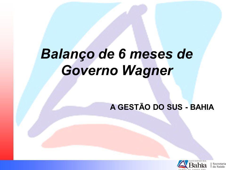 Balanço de 6 meses de Governo Wagner