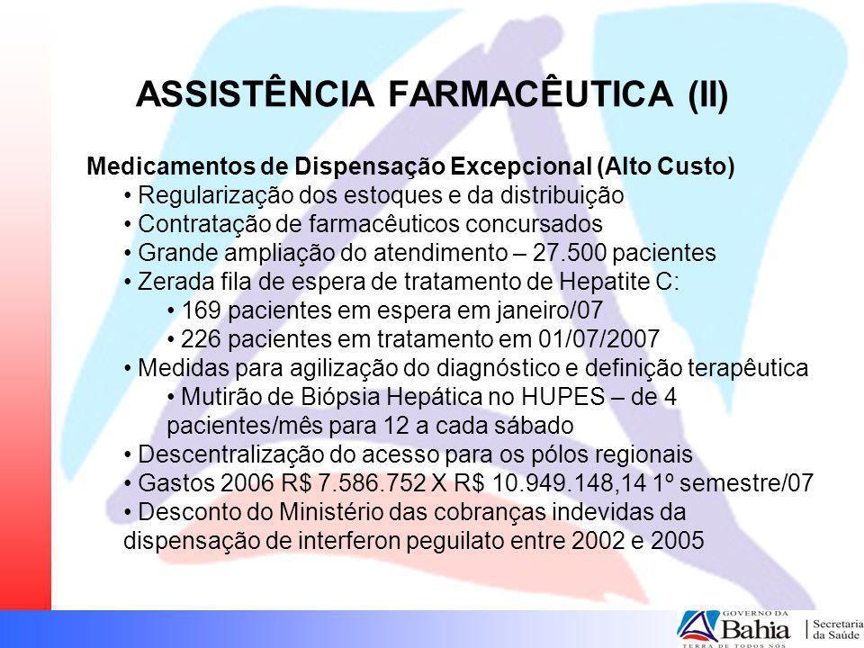 ASSISTÊNCIA FARMACÊUTICA (II)