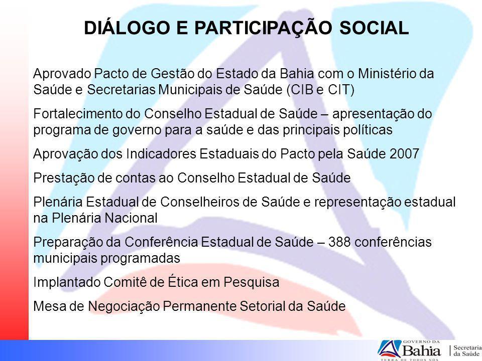 DIÁLOGO E PARTICIPAÇÃO SOCIAL