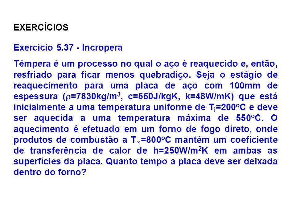 EXERCÍCIOS Exercício 5.37 - Incropera.