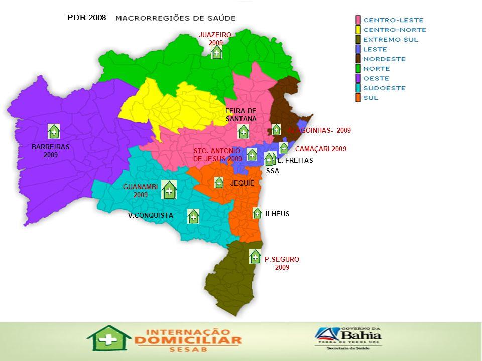 PDR-2008 JUAZEIRO- 2009 FEIRA DE SANTANA ALAGOINHAS- 2009